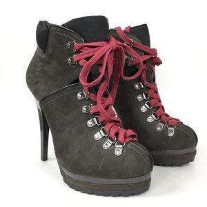 Xhilaration Lace Up Stiletto Combat Ankle Boots